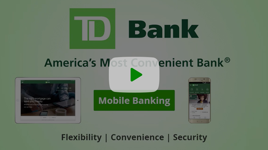 Watch a video to learn how to use the TD Mobile Banking App.